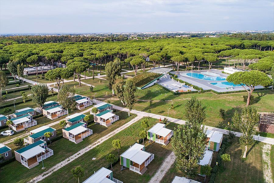 Camping accommodatie FeWo Chalet Pool