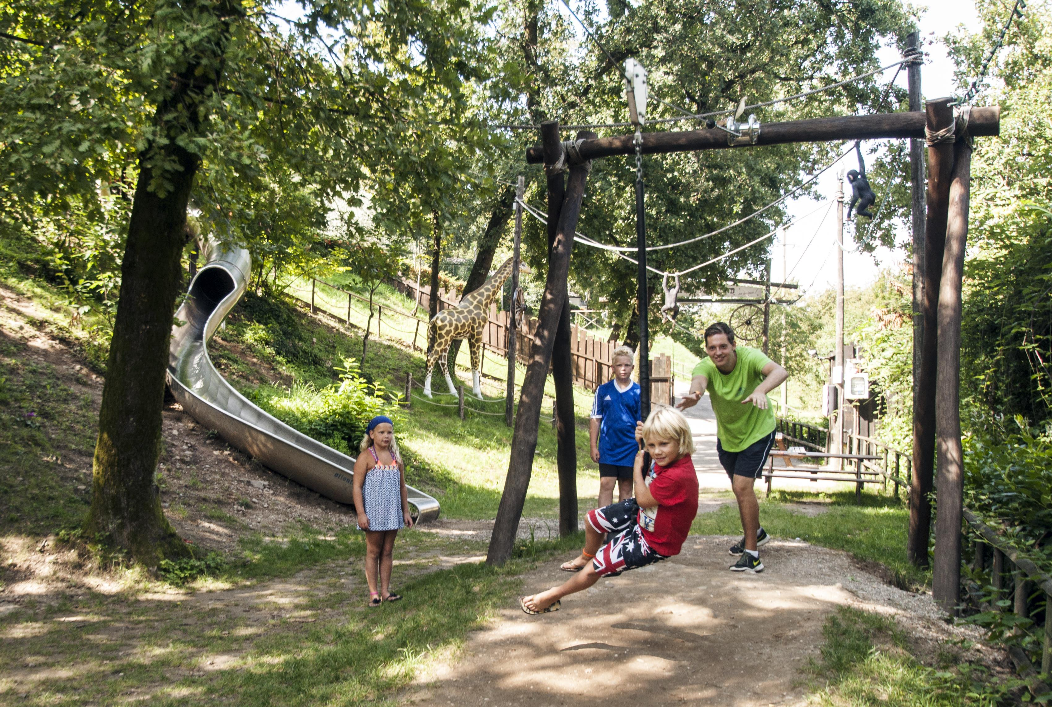 Kinderspeelplaats Ropeway Familievakantie