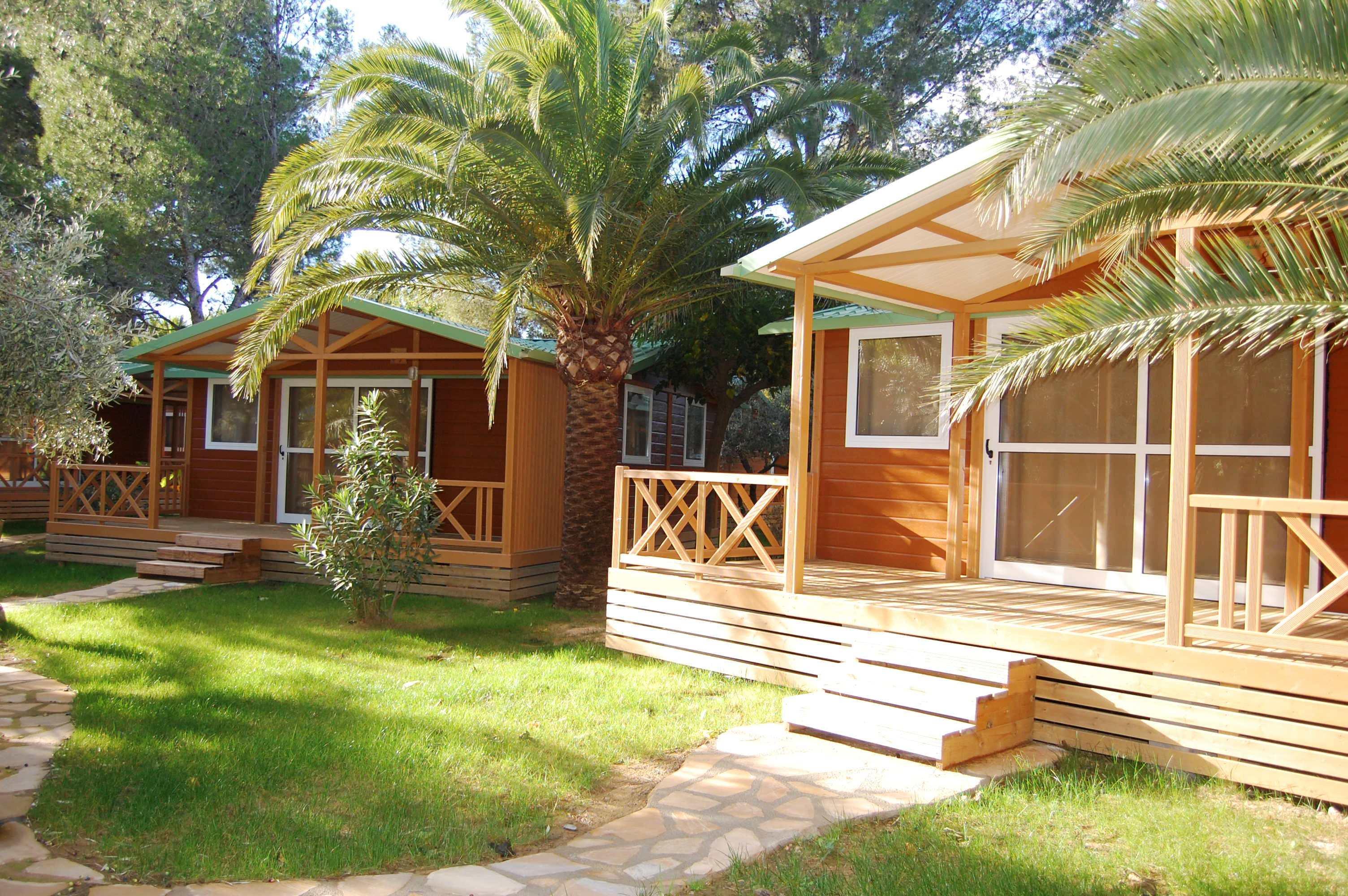 Chalet Mini Huizen Veranda Apartement Huizen