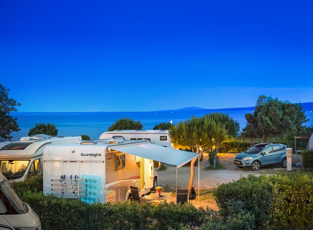 Standplaats Parkeren Caravan Camper