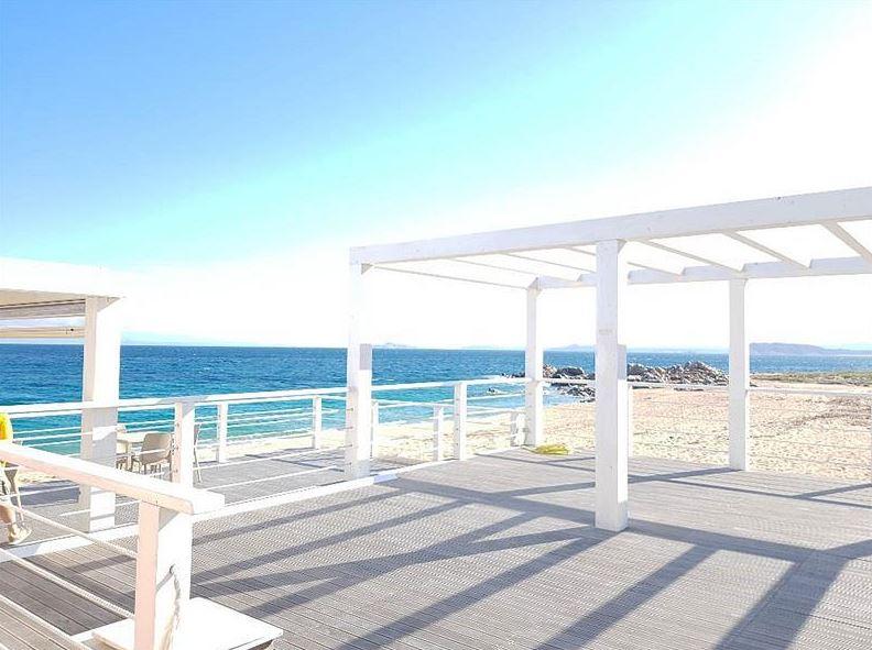 lounge aan het strand
