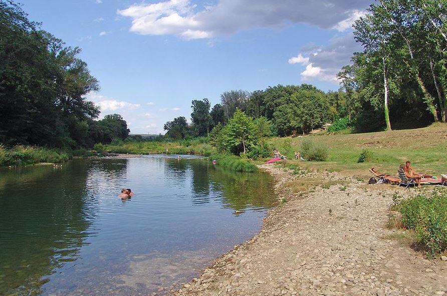 Zwemmen in de rivier