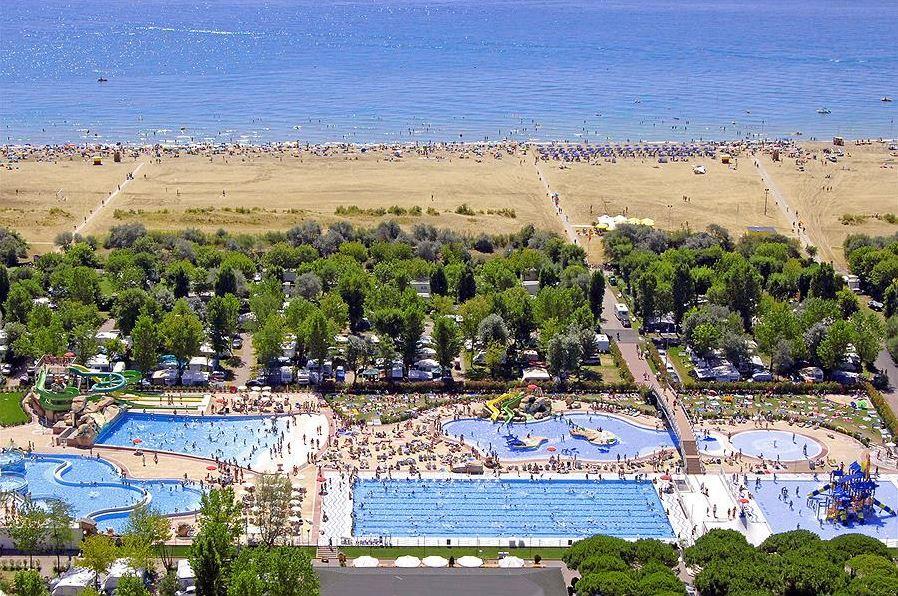 Swimming pool at sandy beach