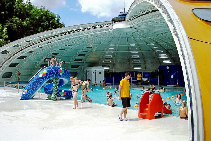 Pool with baby slides