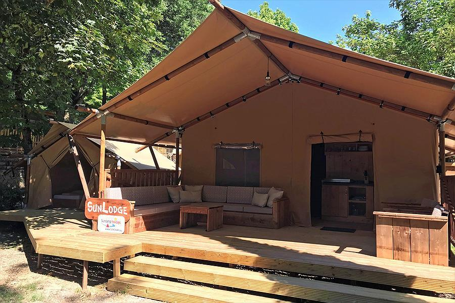 luxury camping house tent terrace recreation