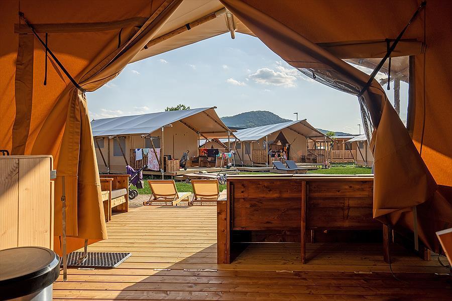 Zelte Clamping Liegestühle Terrasse