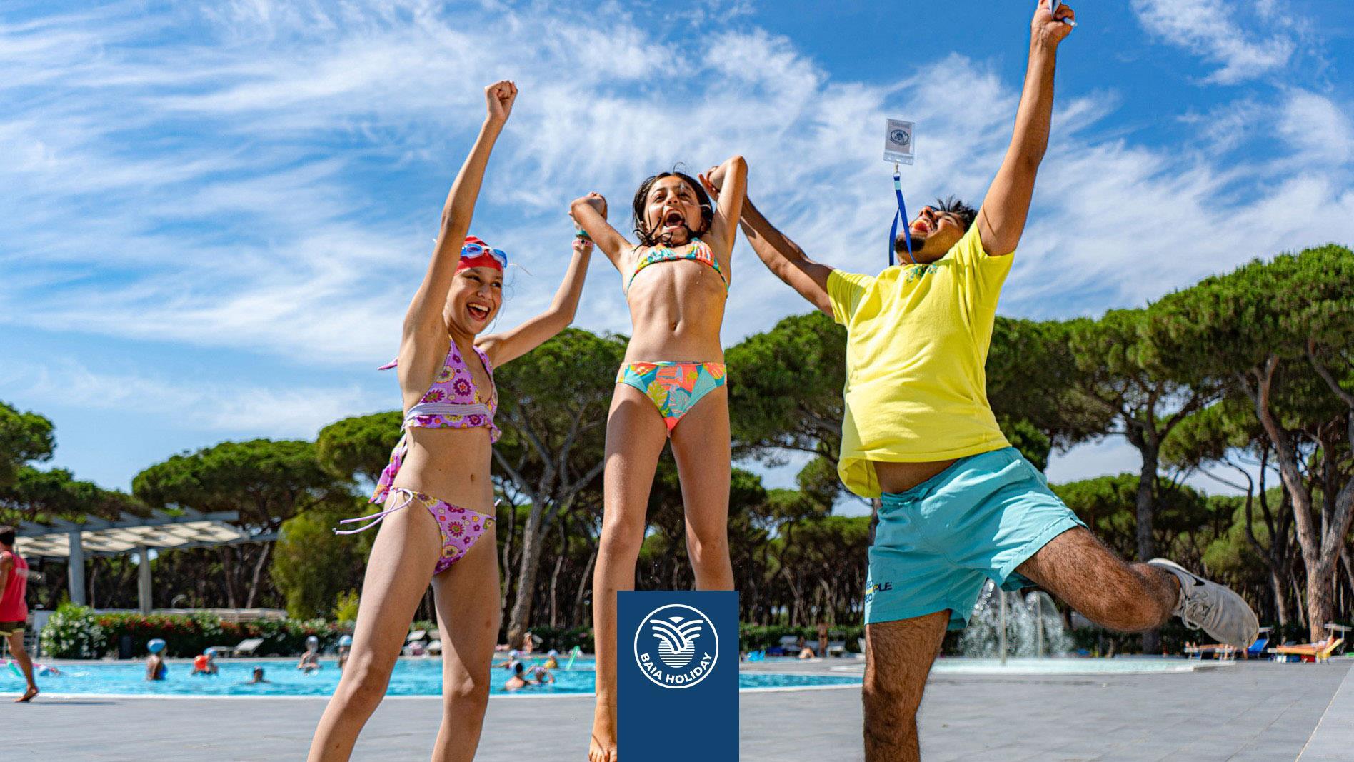 Kinderen Spelen Plezier Zwembad